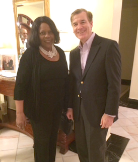 Arlene King-Berry and D. Brent Hardt, Ambassador to the Cooperative Republic of Guyana