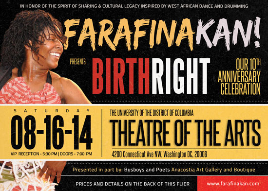 BIRTHRIGHT: FARAFINA KAN 10TH ANNIVERSARY CELEBRATION