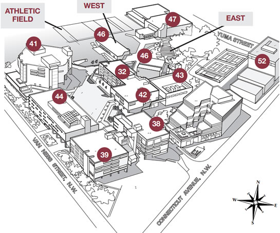 UDC Campus Map