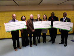 UDC Honored with Three Sustainable DC Grants - Pic of Past President Lyons and CAUSES Team