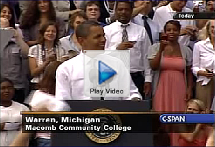 President Obama's Community College Plan video