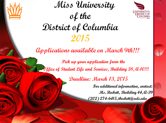 Miss UDC Application