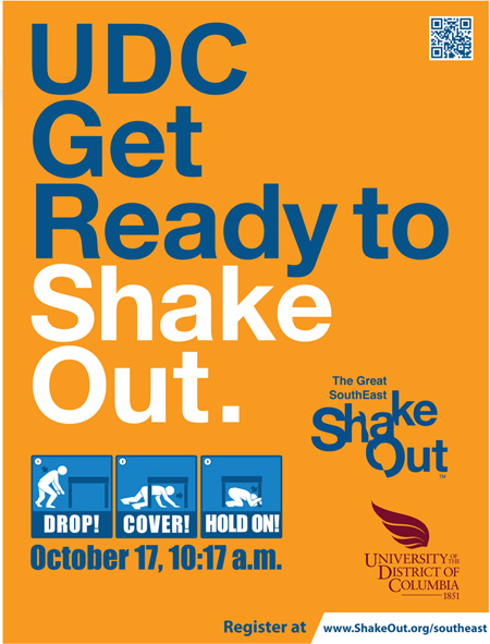 The Great SouthEast Shake Out - An Earthquake drill on 10/17